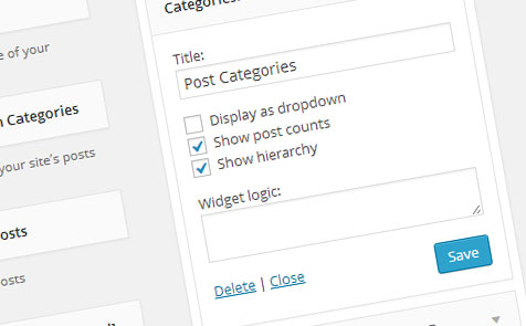 Screenshot of the widget logic field